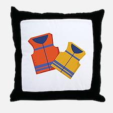 Life Jackets Throw Pillow