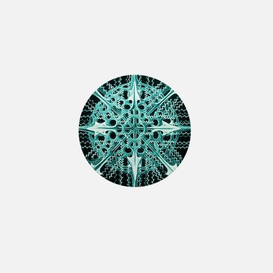 Symmetry, a Diatom by Ernst Haeckel Mini Button