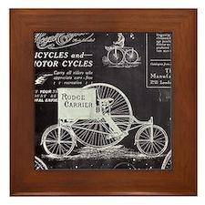 french paris vintage bike Framed Tile
