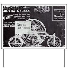 chalkboard paris vintage bike Yard Sign