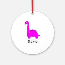 Pink Dinosaur (p) Ornament (round)