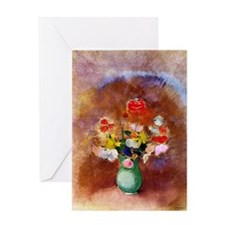 Odilon Redon - Poppies in a Vase Greeting Card