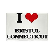 I love Bristol Connecticut Magnets