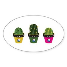 Cactuses in pots Decal