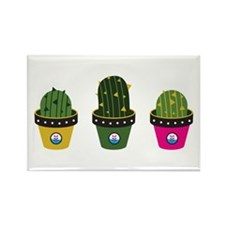 Cactuses in pots Magnets
