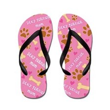 Silky Terrier Dog Mom Flip Flops