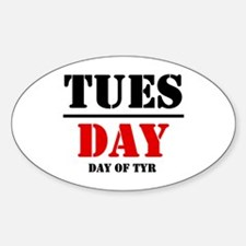 Tuesday 2 Oval Decal