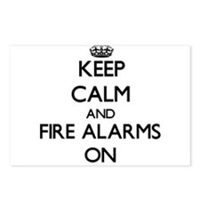 Keep Calm and Fire Alarms Postcards (Package of 8)