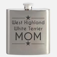 West Highland White Terrier Mom Flask