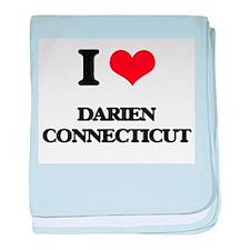 I love Darien Connecticut baby blanket