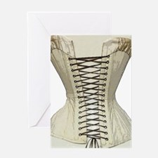 Corset from the 19th Century Greeting Card