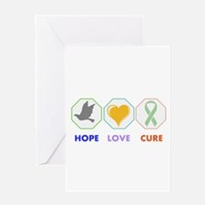 Hope Love Cure Greeting Cards