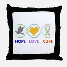 Hope Love Cure Throw Pillow