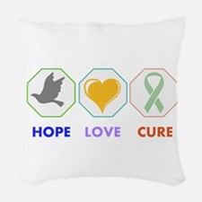 Hope Love Cure Woven Throw Pillow