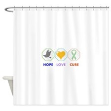 Hope Love Cure Shower Curtain