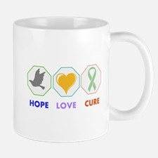 Hope Love Cure Mugs