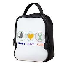 Hope Love Cure Neoprene Lunch Bag
