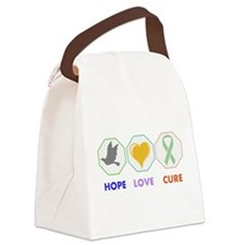 Hope Love Cure Canvas Lunch Bag