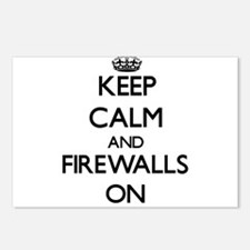 Keep Calm and Firewalls O Postcards (Package of 8)