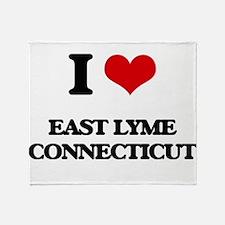 I love East Lyme Connecticut Throw Blanket