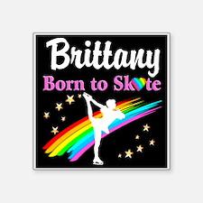 "SKATING PRINCESS Square Sticker 3"" x 3"""