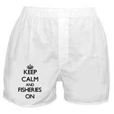Keep Calm and Fisheries ON Boxer Shorts