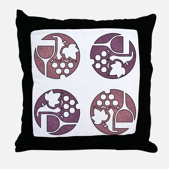 WINE & GRAPES Throw Pillow