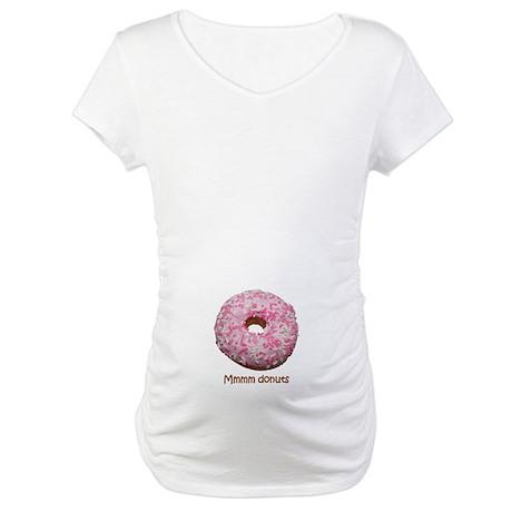 Mmmm donuts Maternity T-Shirt