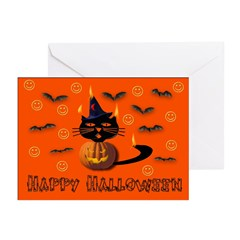 Pumpkin Kitty Greeting Cards (Pk of 20)