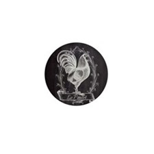 chalkboard french country rooster Mini Button
