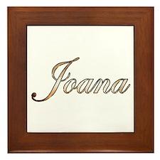 Gold Joana Framed Tile