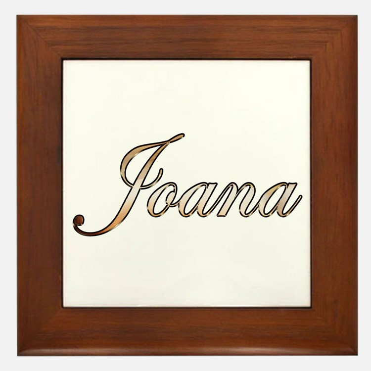 Gold Joana Framed Tile