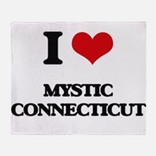I love Mystic Connecticut Throw Blanket