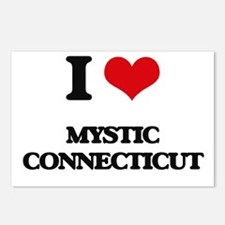 I love Mystic Connecticut Postcards (Package of 8)