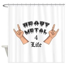 Heavy Metal 4 Life Shower Curtain