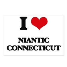 I love Niantic Connecticu Postcards (Package of 8)