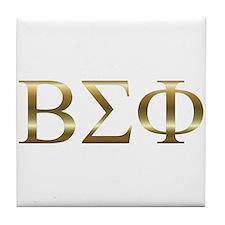 Personalized Beta Sigma Phi Tile Coaster