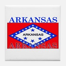 Arkansas State Flag Tile Coaster