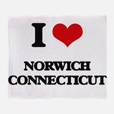I love Norwich Connecticut Throw Blanket