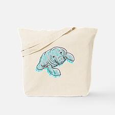 Scribble Scrabble Manatee Tote Bag