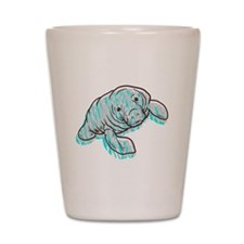 Scribble Scrabble Manatee Shot Glass