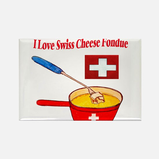 2-I love fondue Magnets
