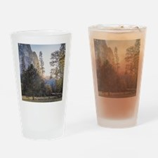 Mountain Meadow Sunset Drinking Glass