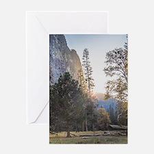 Mountain Meadow Sunset Greeting Card