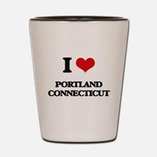 I love Portland Connecticut Shot Glass