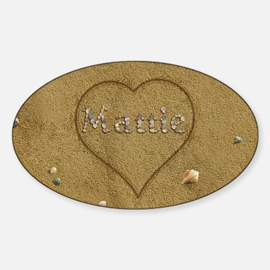 Mattie Beach Love Sticker (Oval)