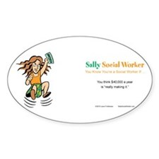Sally Social Worker 40K Decal