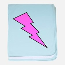 Pink Lightning Bolt baby blanket