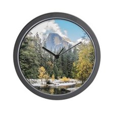 Autumn Mountain & River Scene Wall Clock