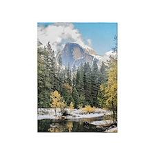 Autumn Mountain & River Scene 5'x7'Area Rug